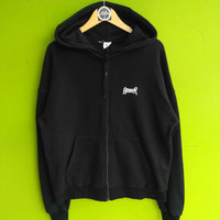 sweater Zipper Hoodie ACOVER Size fit XL hitam pekat second brand