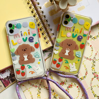 CUTE DOGGY SLING CASE FOR IPHONE 7 PLUS/8 PLUS, IPHONE X/XS