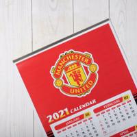 Kalender Bola Tahun 2021 - Manchester United (Free Gantungan Kunci)
