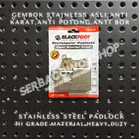 Blackfoot Gembok Kotak 70 mm Stainless Steel Anti Karat Anti Potong