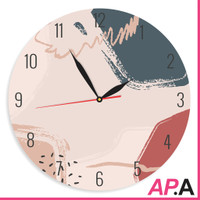Jam Dinding Unik Aesthetic Abstract Pink Shabby Chic - Pinkstract
