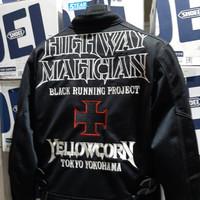 Jaket yellow corn 2L highway magician black silver & sena parani 2 set