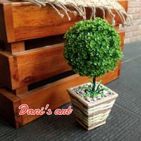 Pohon bonsai bulat/ pohon palsu/ pohon plastik/ pohon cemara