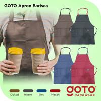 Goto Barisca Apron Celemek Barber Barista Chef Dapur Masak