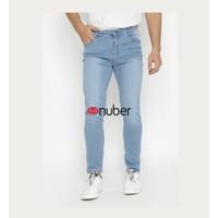 Celana Panjang Slim Fit Stretch Soft Jeans Pria Biru Spray - Amethyst
