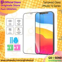 Tempered Glass iPhone 12 Pro Max / 12 Pro / 12 Mini Full Glue - iPh 12 Mini