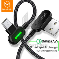 MCDODO LED 90 Light Kabel Micro USB Data Fast Charging Samsung Xiaomi
