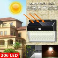 206 led lampu dinding teras taman solar power sensor gerak otomatis