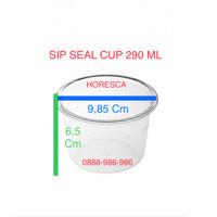 Cup Puding / Seal Cup SIP 290 ML + Tutup Dome Tanpa Lubang @50 Pcs