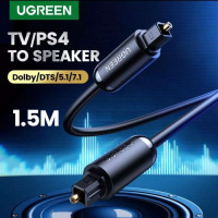 Ugreen Optical Toslink Digital Audio Cable 1.5M (AV122) - Grey - Hitam 70891