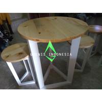 GWENIS Furniture Terlarisss!!! 1 SET MEJA CAFE Kayu Jati Belanda