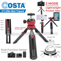 Tripod Costa CT-05k Stand Portabel With Ball Head Horder Handphone Cam