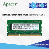 APACER Notebook Memory Module SoDimm DDR3 4GB 1600