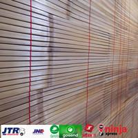 Tirai bambu,gorden bambu aten di vernish L 200cm X P 200cm