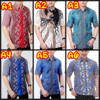 Kemeja batik pria murah - Baju Batik pria - kemeja lengan pendek