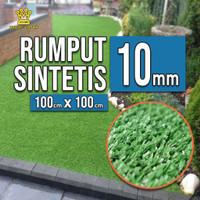 Karpet Rumput Palsu, Rumput Sintetis 1x1M 10mm- Artificial Grass