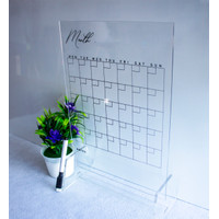 MONTHLY ACRYLIC PLANNER - A4