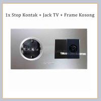 Stop Kontak 1x WESJP11212 + Jack TV + Chip Kosong SILVER PANASONIC