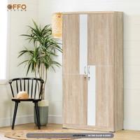 Offo Living - Lemari Pakaian 2 pintu Sonoma Oak Cream - LPS2611194