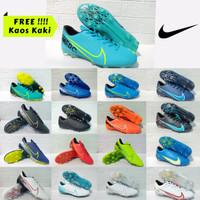 Sepatu Bola Nike Mercurial Kualitas Impor Sol Bening (Best Seller) - Putih, 39