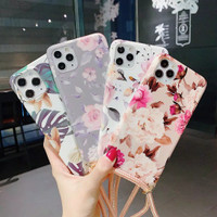 CASE CASING COVER FLOWER PREMIUM STRAP + TALI IPHONE 11 PRO MAX