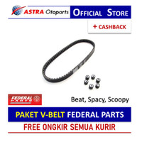 PAKET V-BELT Federal Parts untuk Beat, Spacy, Scoopy