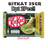 Kitkat Green Tea 4F 35Gram / Wafer KitKat Green Tea / Kitkat Dpt 2Pcs