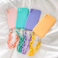 casing hp iphone 7 plus 8+ x xr xs 11 pro max case tali rantai jinjing