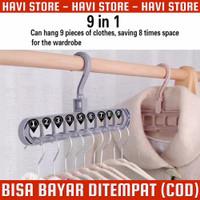 Hanger Lipat 9 Lobang Serbaguna - Gantungan Baju Serbaguna