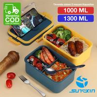 Lunch Box / Kotak Tempat Makan / BPA Free / FREE SENDOK GARPU 1300ML