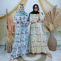 Long Dress Tie Dye Gamis Maxi Wanita Thyta Rayon Viscose