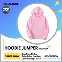 Jaket Sweater Hoodie Jumper Polos PREMIUM Pink Pria Wanita