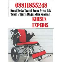 Kursi Roda Travel Amor Avico Jok Tebal Bagus dan Nyaman dipakai