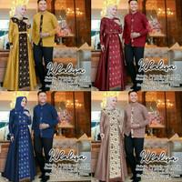 sa baju couple gamis koko batik busana muslim fashion pria wanita