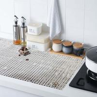 Alas Aluminium Serbaguna Mat Meja Makan Laci Rak Lemari Dapur Minyak