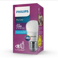 Lampu led bulb philips 4 watt lampu bohlam led putih 4w mycare 6500 k