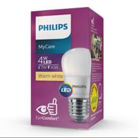 Lampu led bulb philips 4 watt lampu bohlam led kuning 4w 3000 k