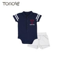 Torio Cool Blue Overall Set - Pakaian Anak Baju Anak Jumper Anak