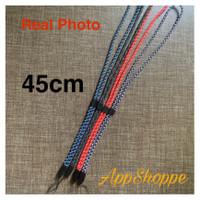 Handphone Strap Tali Gantungan HP Adjustable Braided 45cm LANYARD - BLACK
