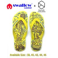 SANDAL SWALLOW X DWSKELLINGTON DOODLE YELLOW - KUNING