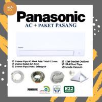 AC Panasonic CS/CU-YN7WKJ 3/4 PK TERMASUK PASANG & MATERIAL 5 METER.