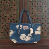 Cath Kidston Leather Trim Tote Bag Medium Clouds