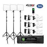 Paket Viltrox VL200 Kit B3L LED Video Light Studio Vlog Lampu Foto Set