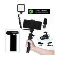 Viral Paket Vlog Murah Meriah Microphone Lighting Komplit Set Handle