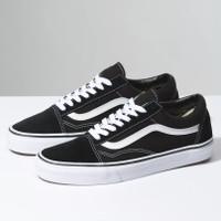 Sepatu Vans Oldskool Black White - Sneakers Pria Wanita Original