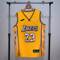 Jersey Basket Swingman NBA Los Angeles Lakers Lebron James city kuning