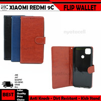Xiaomi Redmi 9 9A 9C Flip Wallet Stand Case Cover Leather