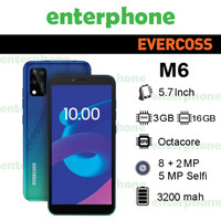 Evercoss M6 3/16 Ram 3gb Internal 16gb Garansi Resmi