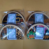 Souvenir Pernikahan Dompet pelok Besar | dompet Koin Batik Oval - kemas n Ucapan