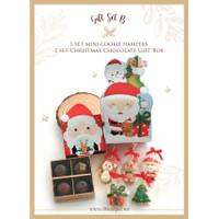 Christmas Gift Set B Mini Cookie Hampers + Christmas Chocolate Gift Bo